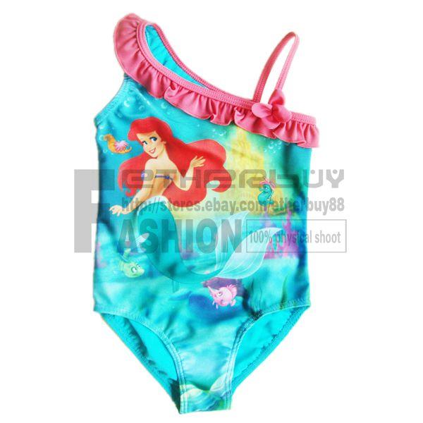Girl Princess Ariel Mermaid Swimsuit 6 7 Years Swimming Beach Tankini Swimwear