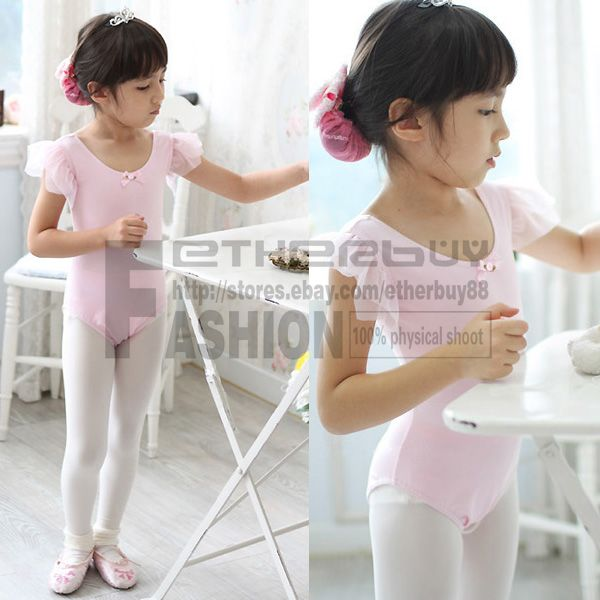 Barbie Pink Girls Kids Ballet Dance Dress Leotard Costume Size 3 8 Years Clothes