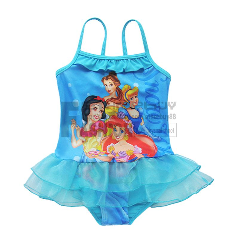 Baby Toddlers Swimsuit Girl Princess Tutu Bathing Suit One Piece Swim Costume 3T