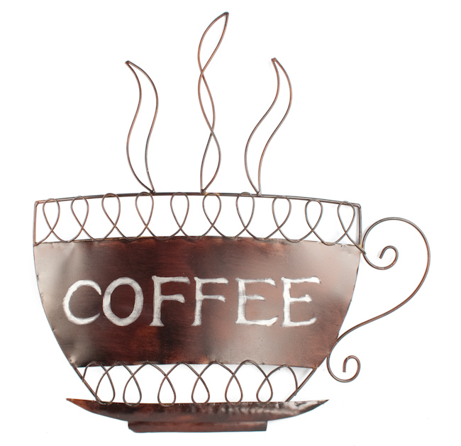 Contemporary Metal Wall Art - Coffee Cup
