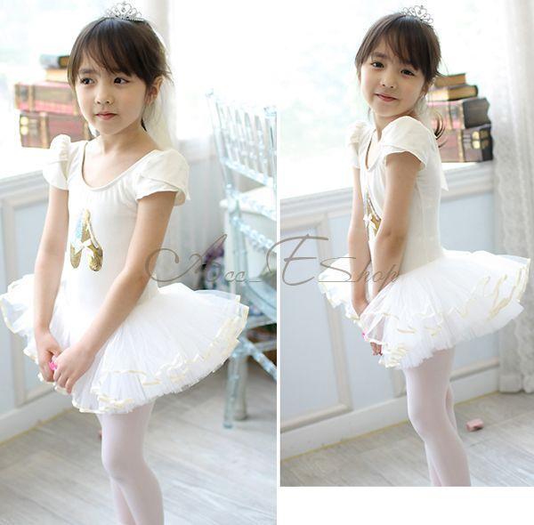 Fairy Girl Kid Sequin Shoes Ballet Dance Leotard Skate Costume Tutu Dress Sz 4 7