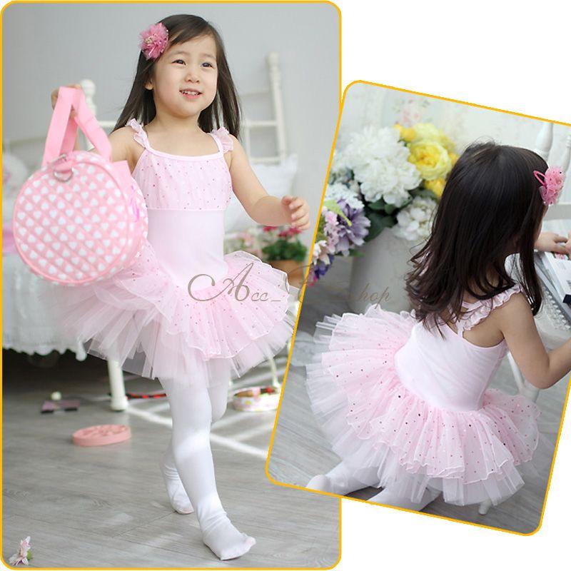 Girl Kid Ballet Dance Leotard Skate Party Sequins Tutu Dress Costume Sz 4 10