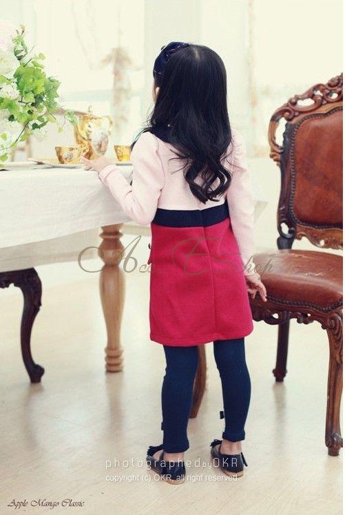 Girls Kids One Piece Long Sleeve Dress Tutu Skirt Clothing Cotton Costume 1 6Y