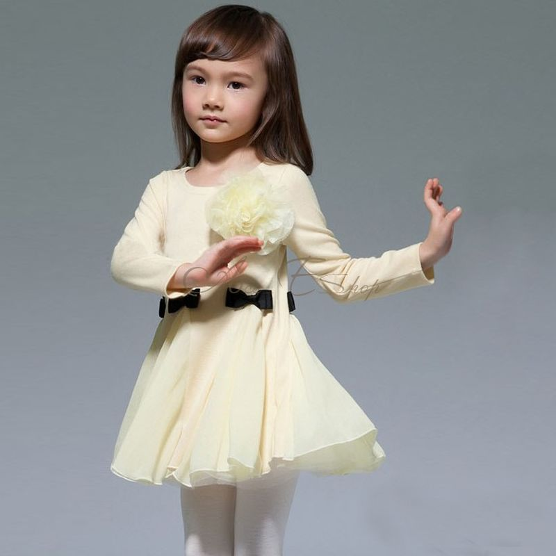 Girl Kid Toddlers Princess Flower Party Dress Cute Elegant Fairy Clothes Sz 2 6