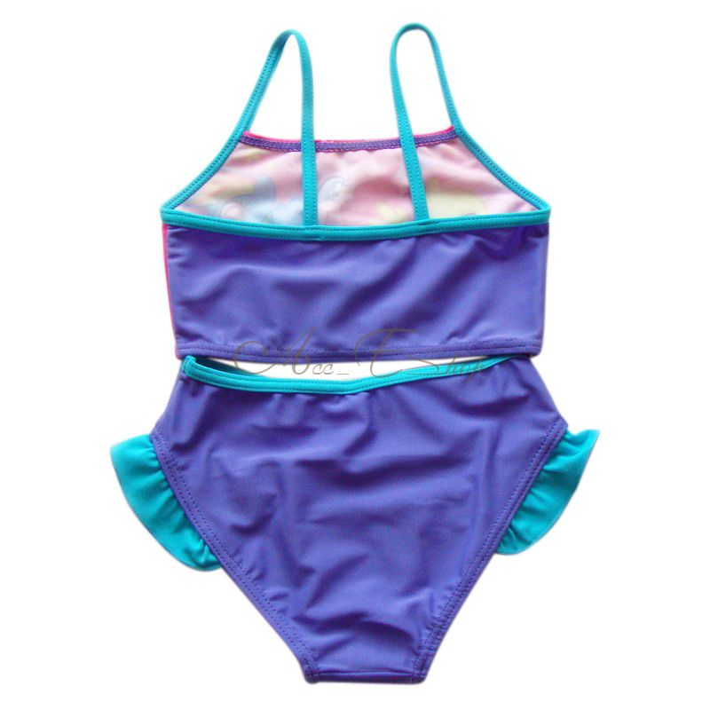 My Little Pony Girl Kids Bathing Suit Swimsuit Swimwear Swimming Costume Sz 6 7
