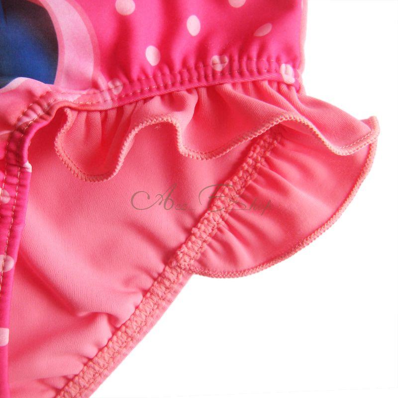 Girl Baby Polka Dots Minnie Mouse Swimsuit Swimwear Swimming Costume Sz 3T