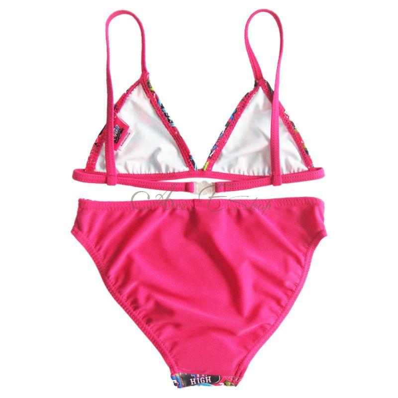 Kids Girls Monster High Skull Bikini Swimwear Swimming Beachwear Swimsuit Sz 4
