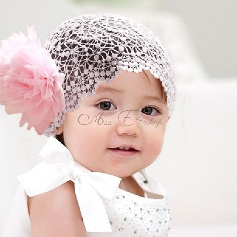 1pc Baby Girls Toddler Lace Headband Hair Band Bow Accessories 3 Colors Headwear