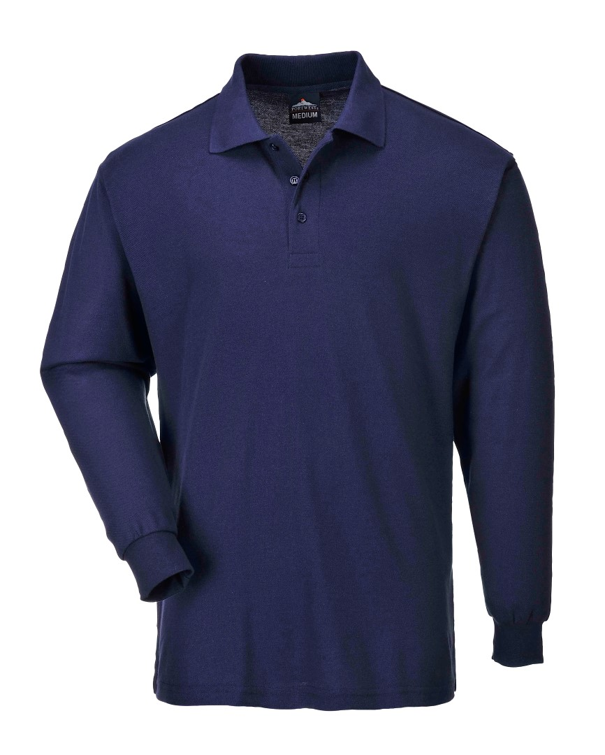 Portwest Workwear Mens Two-Tone Long Sleeved Polo