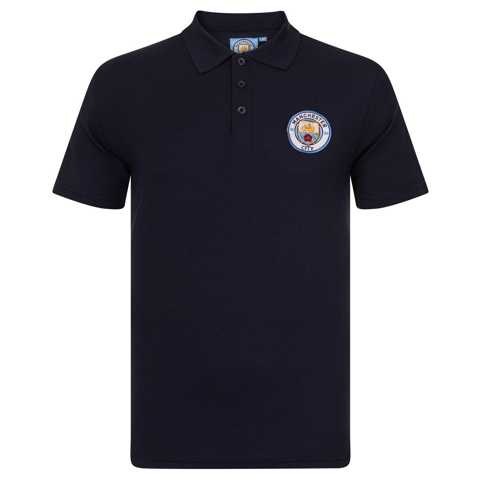 Manchester City Fc Official Football Gift Mens Crest Polo
