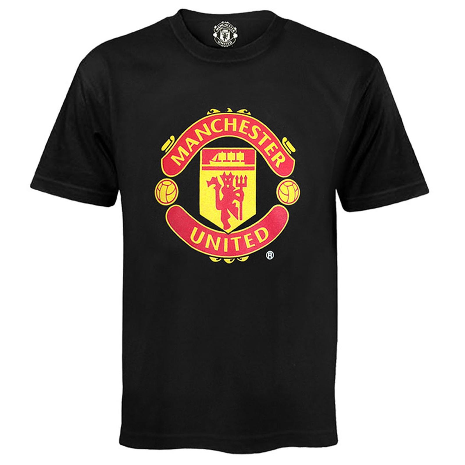Manchester-United-FC-officiel-T-Shirt-pour-garcon-avec-embleme