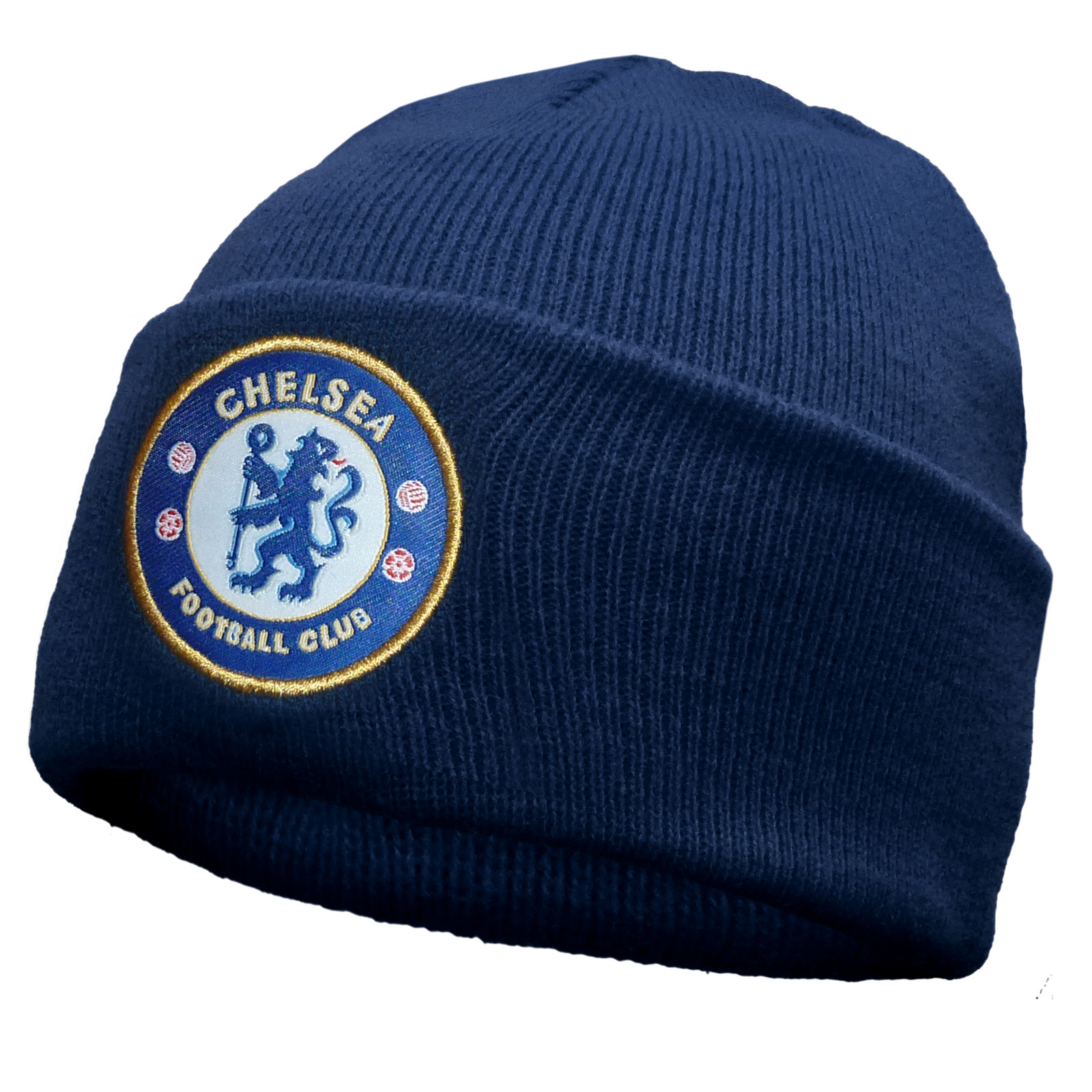 ed1ee5c2e64 Details about Chelsea FC Official Football Gift Knitted Bronx Beanie Hat
