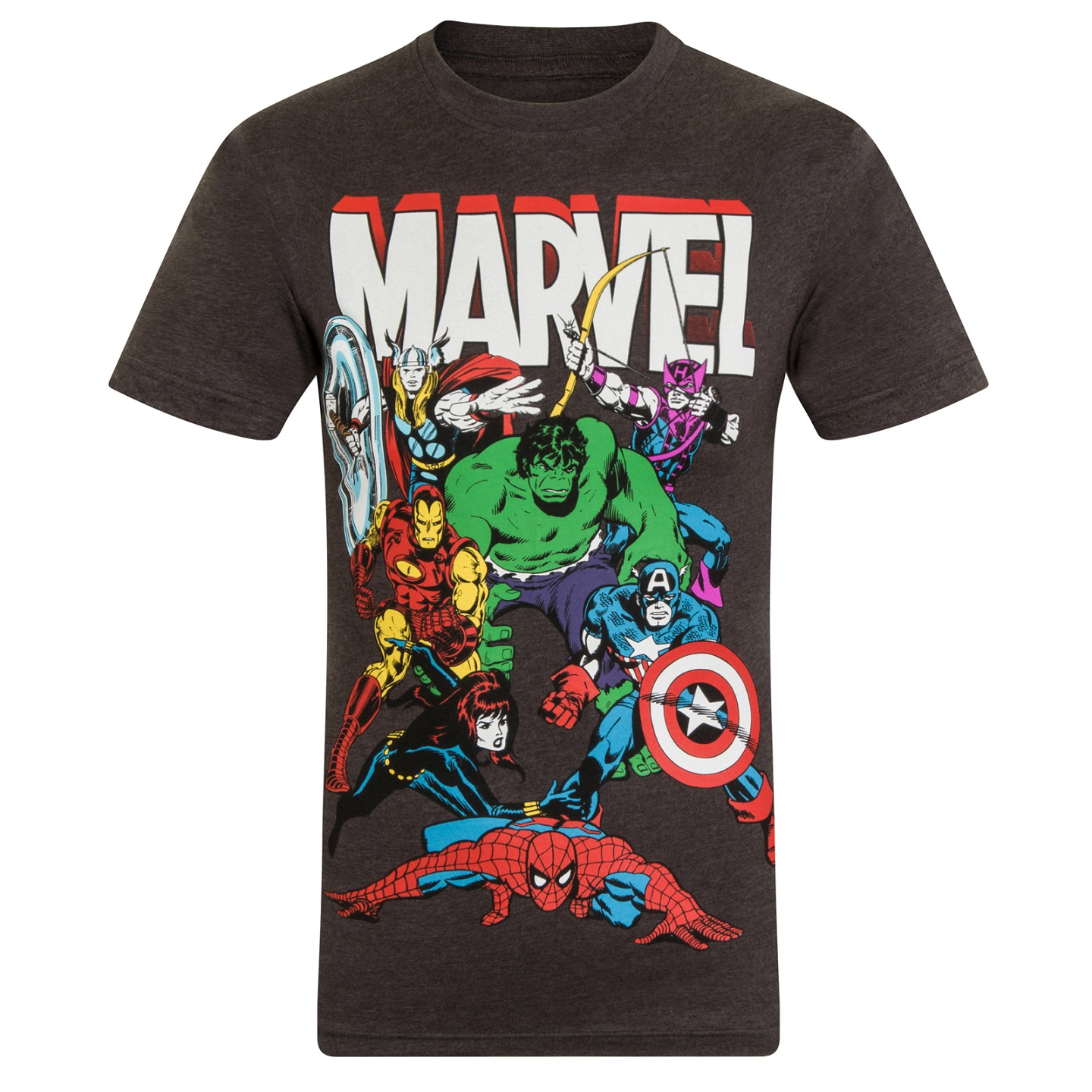 marvel comics official gift mens character t shirt iron. Black Bedroom Furniture Sets. Home Design Ideas