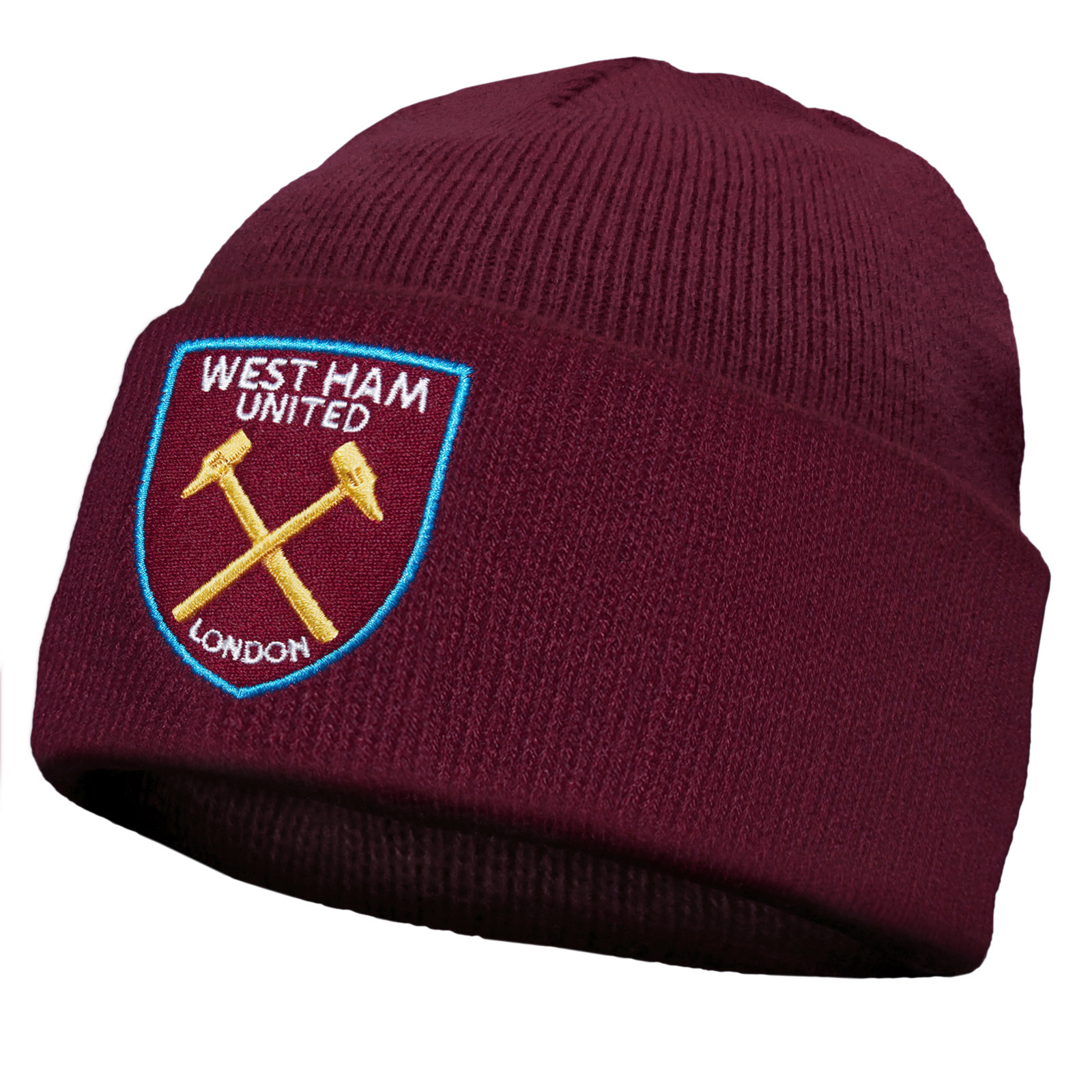 West Ham United FC Official Football Gift Knitted Bronx Beanie Hat ... b13bf8e08f9b