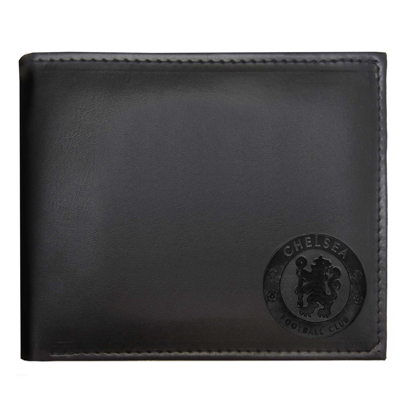 Chelsea-FC-Official-Football-Gift-Embossed-Crest-Wallet-Black miniatura 7