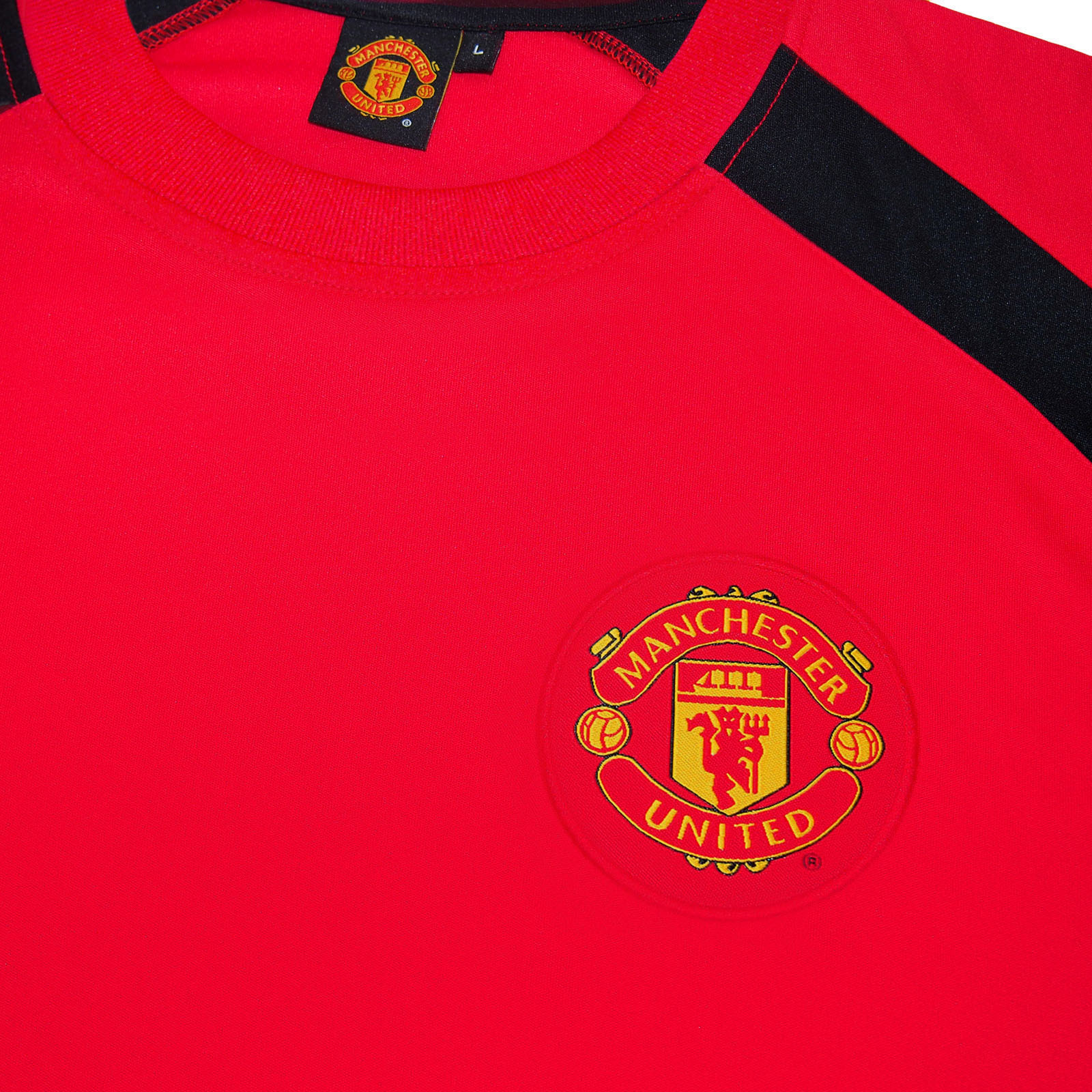 2896959ce Manchester United FC Official Football Gift Boys Poly Training Kit T ...