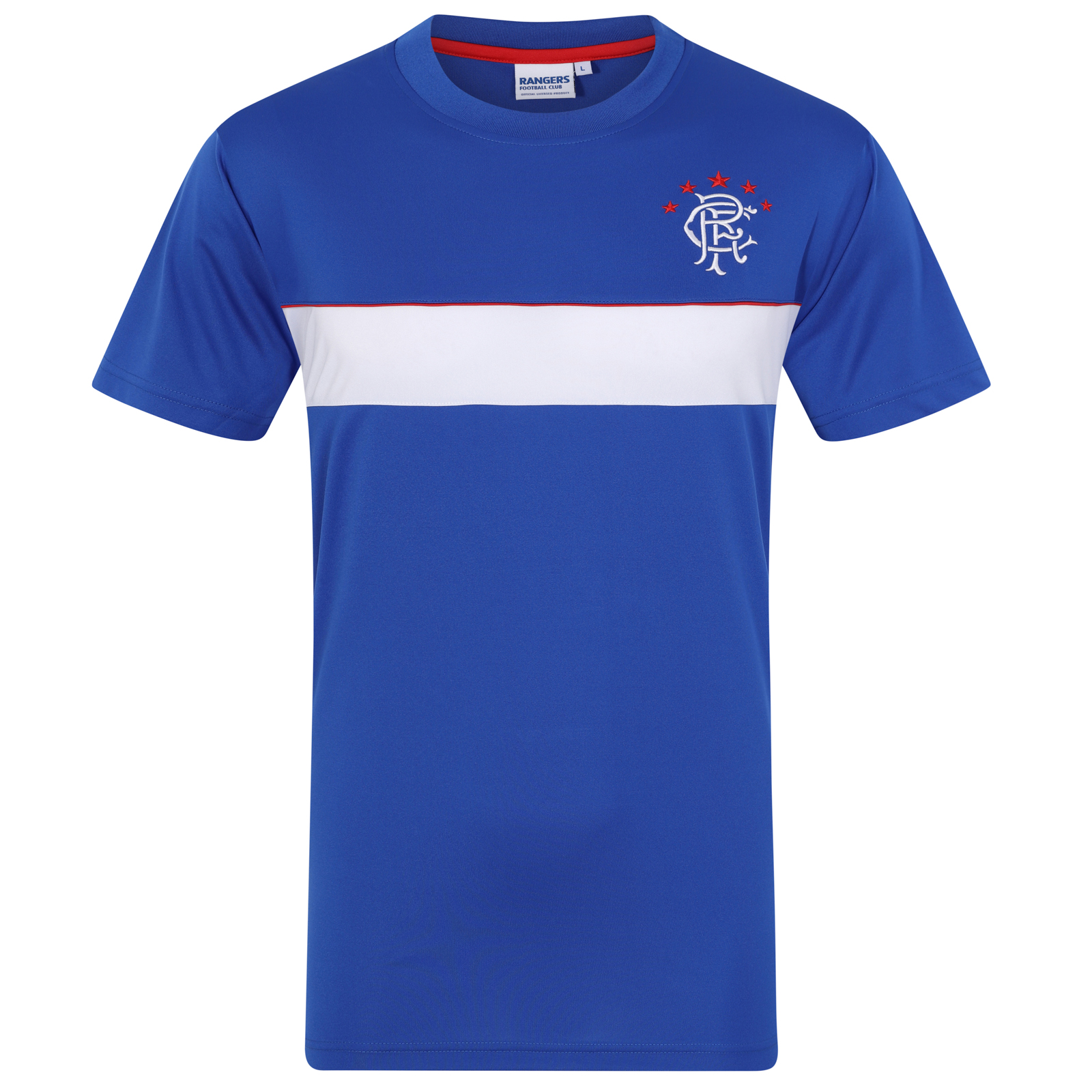 Rangers FC Official Football Gift Mens Poly Training Kit T-Shirt  52ff35c01