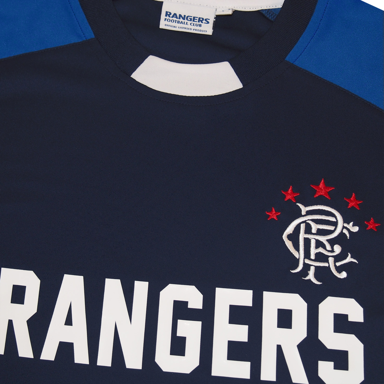 bcadc39a0 Rangers FC Official Football Gift Mens Poly Training Kit T-Shirt