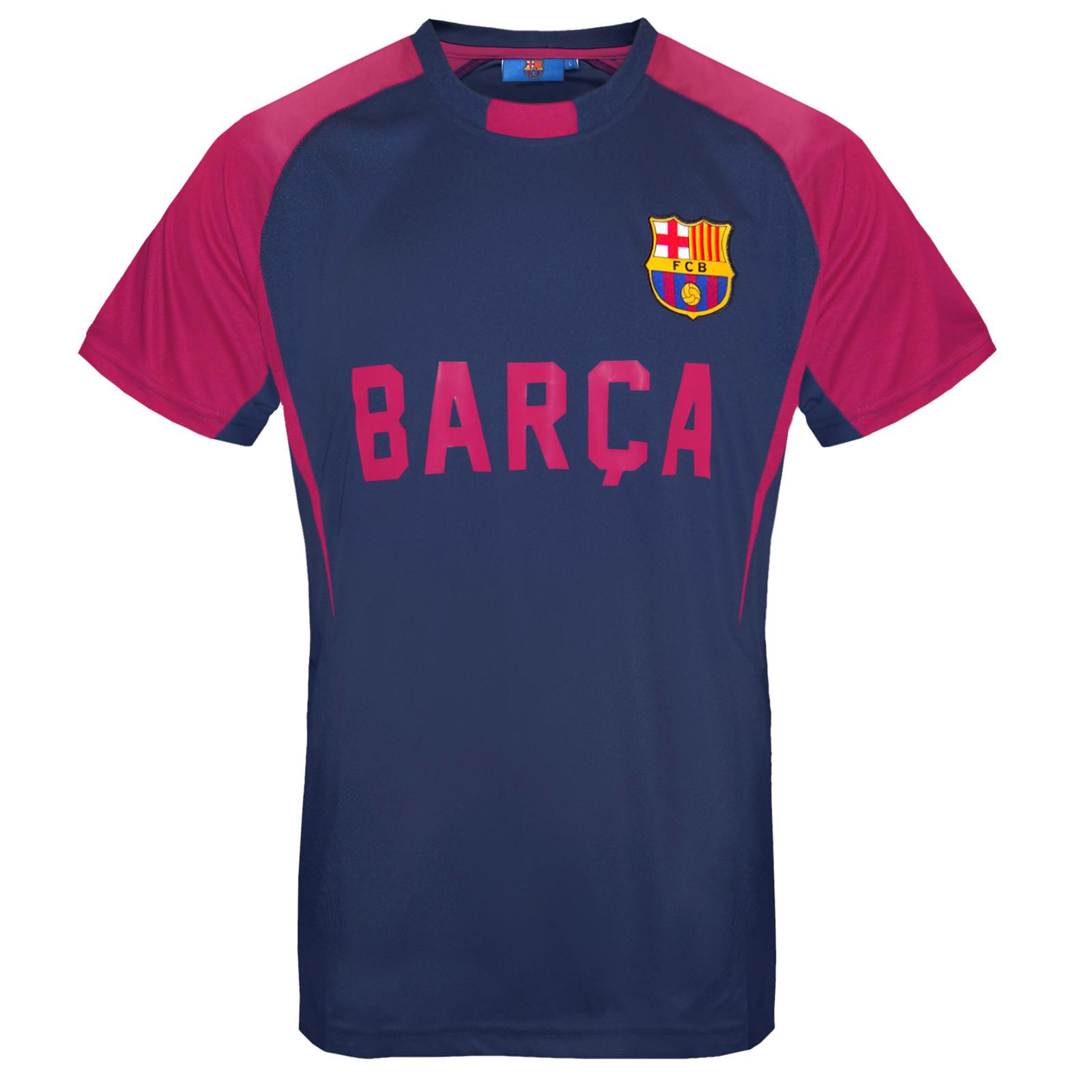 FC Barcelona Official Soccer Gift Mens Poly Training Kit T ...