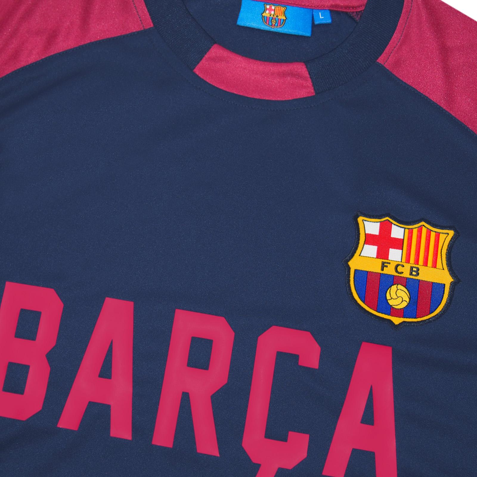 4c955756f9c FC Barcelona Official Soccer Gift Mens Poly Training Kit T-Shirt