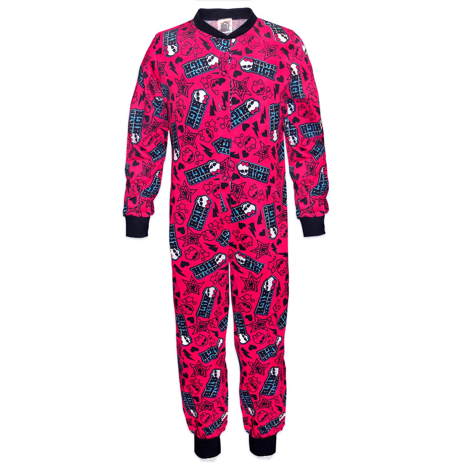 Mattel-Monster-High-Pijama-de-una-pieza-para-ninas-Producto-oficial
