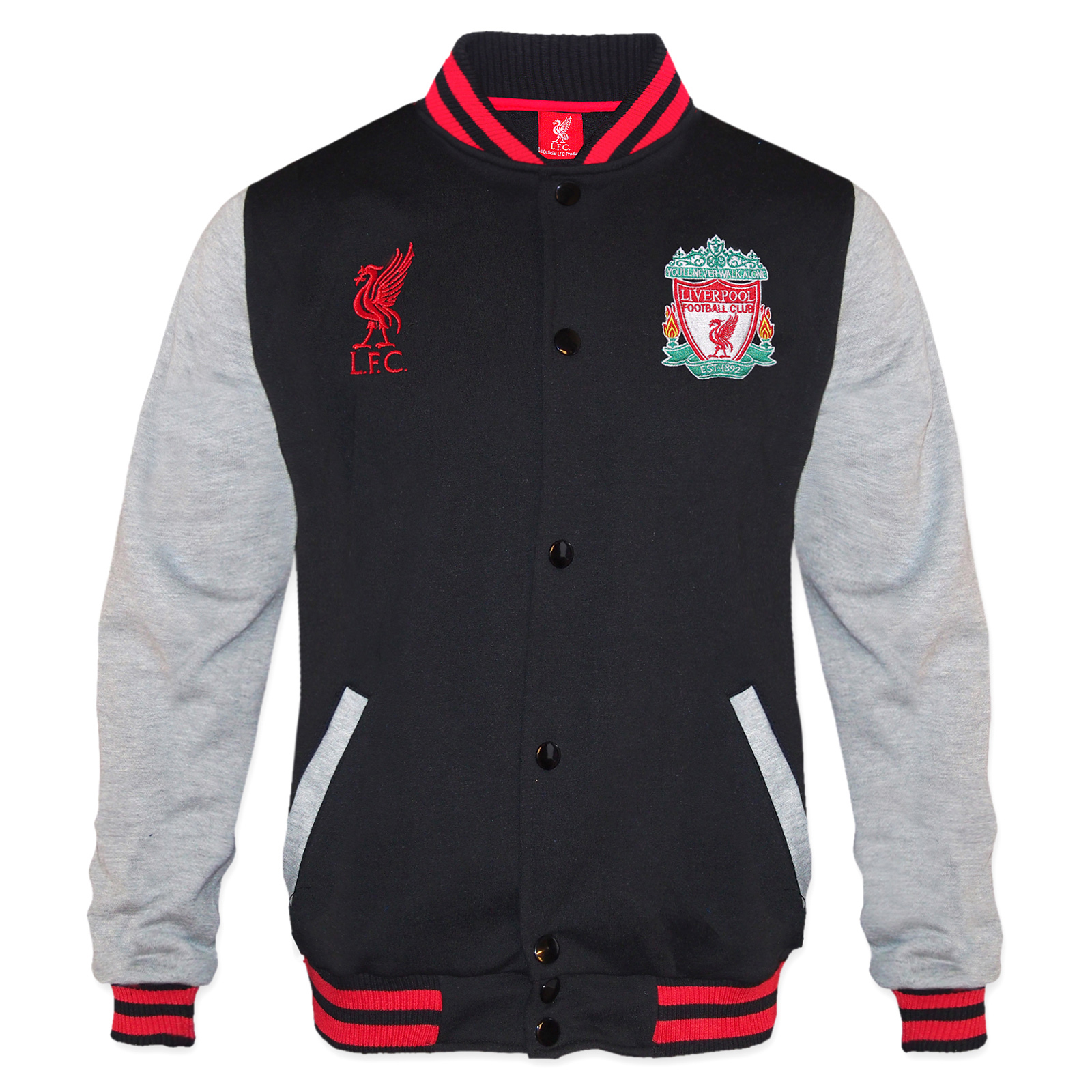Liverpool Football Club Official Gift Mens Retro Varsity
