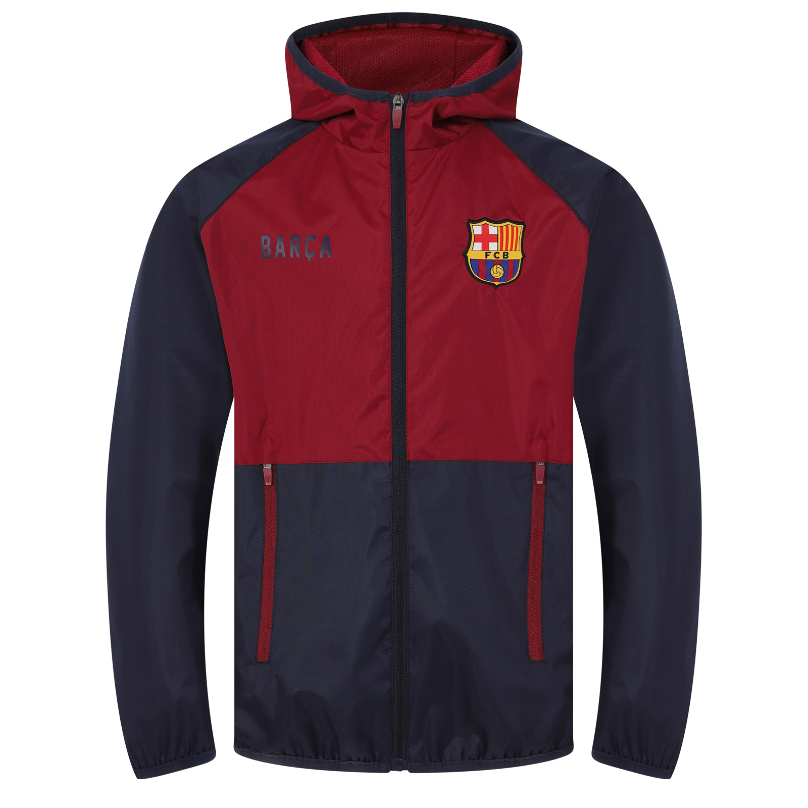 FC Barcelona Official Soccer Gift Mens Shower Jacket Windbreaker ...