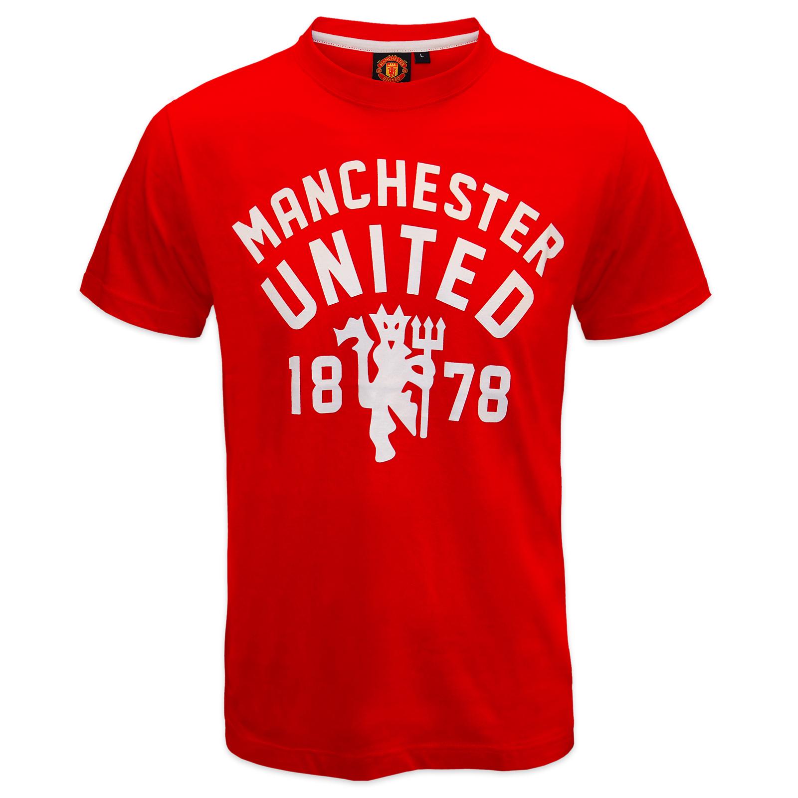 thumbnail 5 - Manchester United FC Official Football Gift Mens Devil T-Shirt