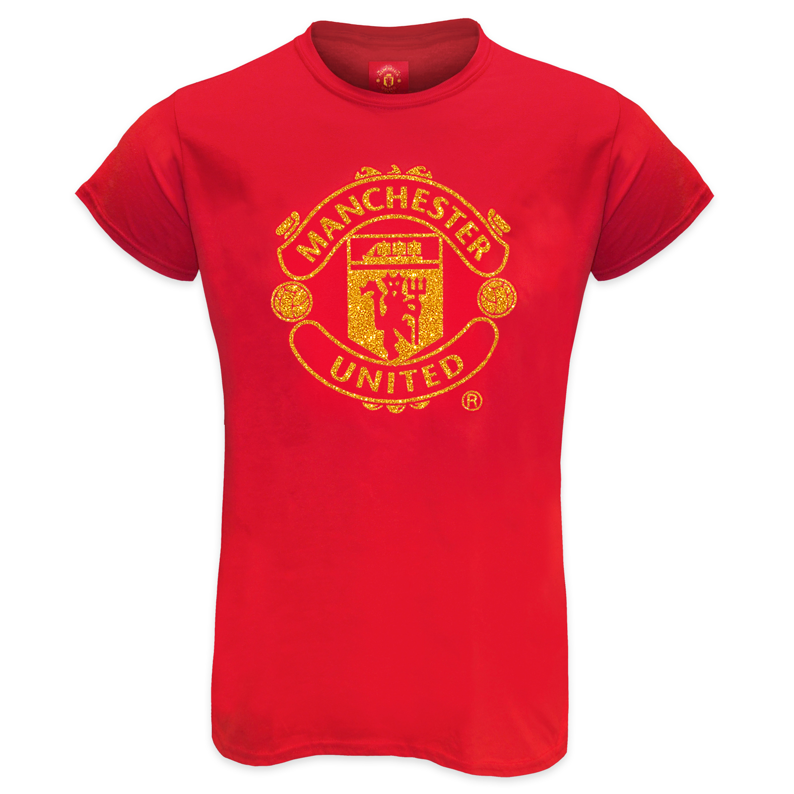 Manchester United Fc Official Football Gift Ladies Glitter