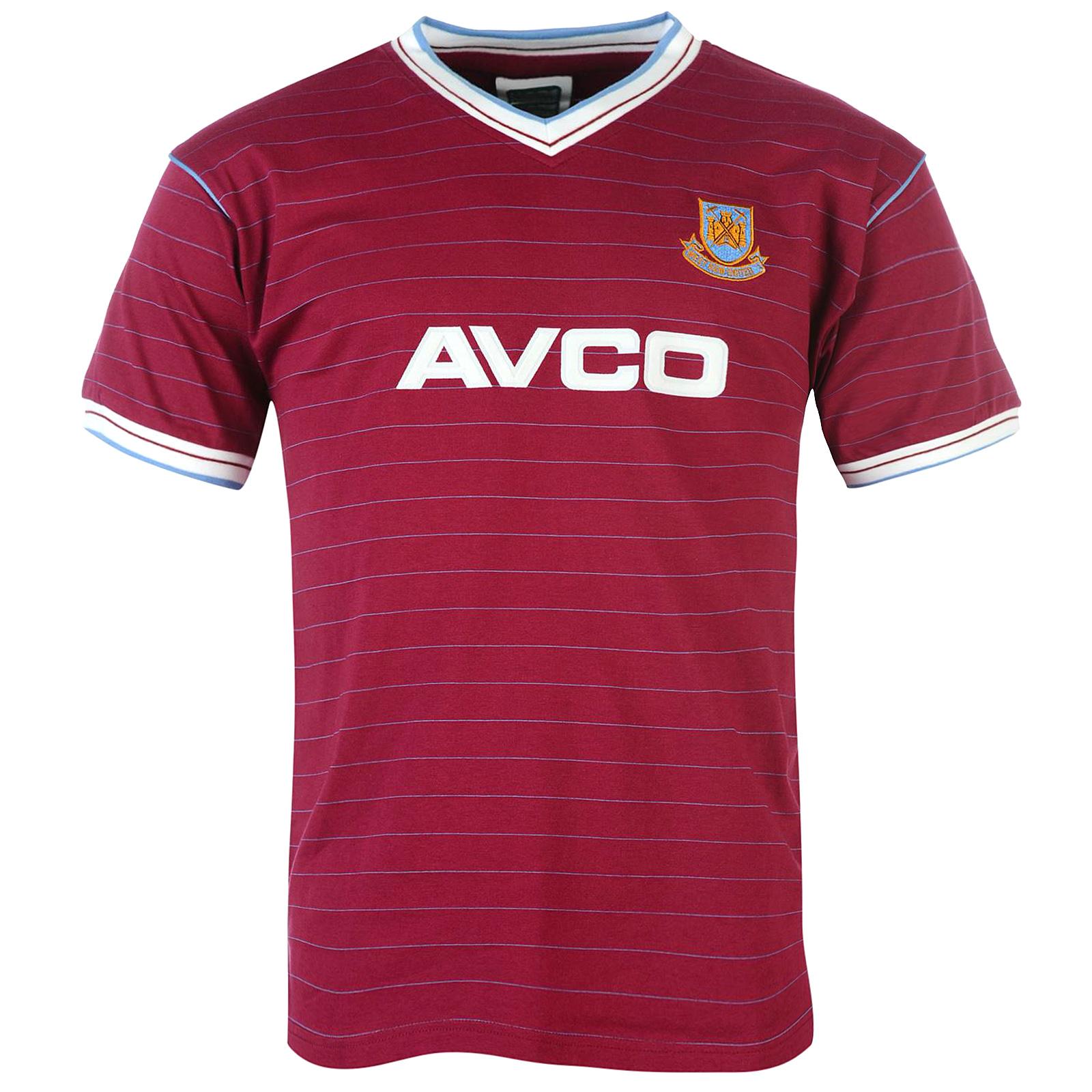 West Ham United Fc Official Football Gift Mens 1986 1983 Retro Home Kit Shirt Ebay