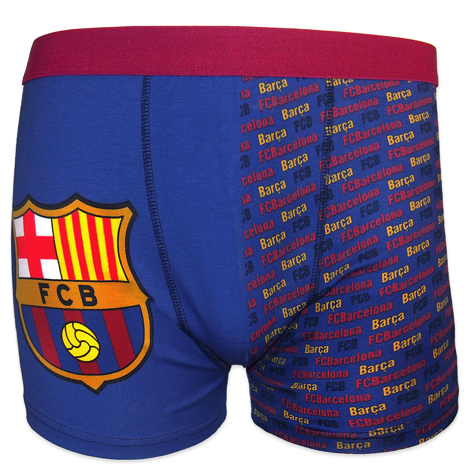Top FC Barcelona Official Soccer Gift 1 Pack Mens Crest Boxer Shorts  OP-12 8c27be5f98a
