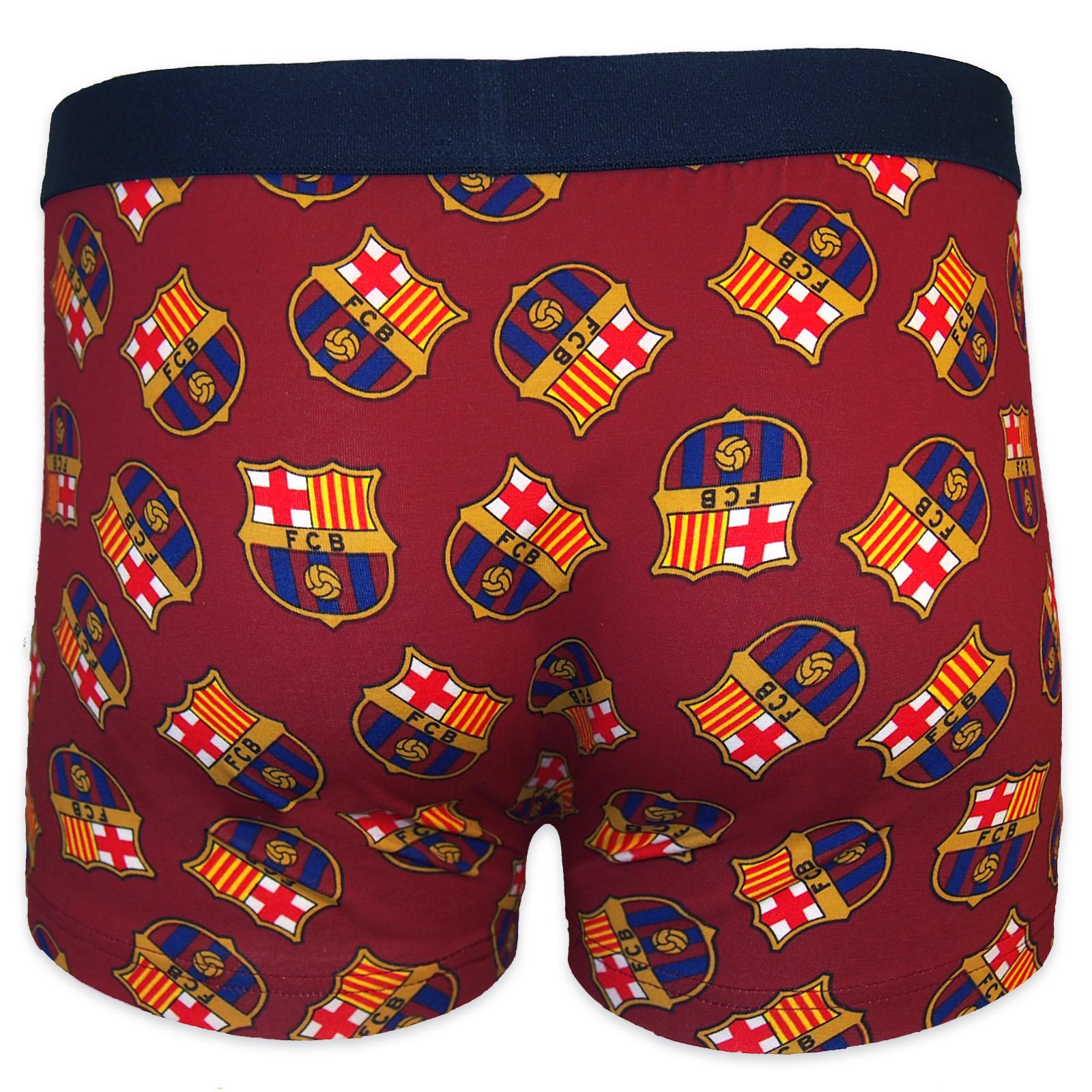 FC Barcelona Official Soccer Gift 1 Pack Mens Crest Boxer ...
