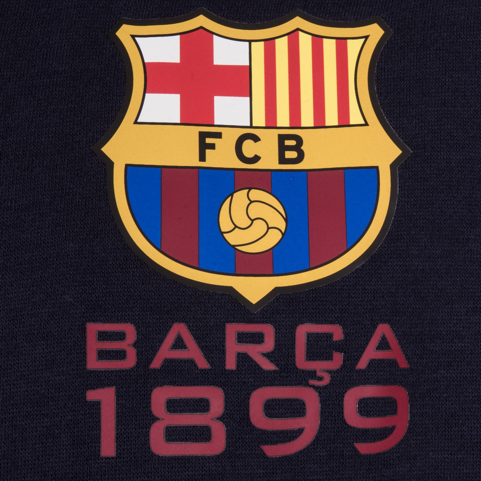 FC Barcelona Official Football Gift Mens Fleece Zip Hoody