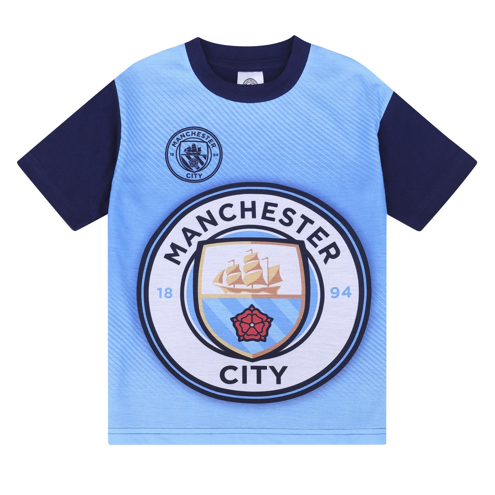 293c74eb Manchester City FC Official Football Gift Boys Short Pyjamas   eBay