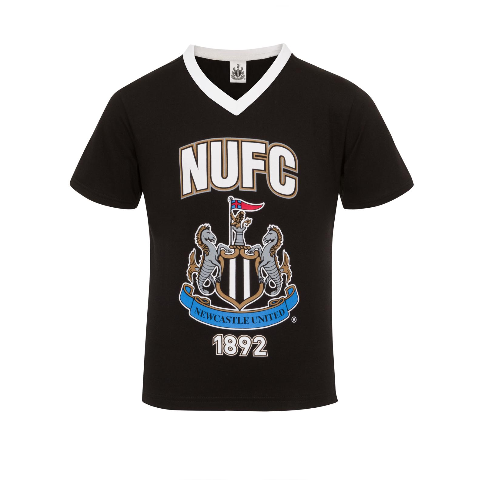 Newcastle-United-FC-Official-Football-Gift-Boys-Short-Pyjamas thumbnail 5