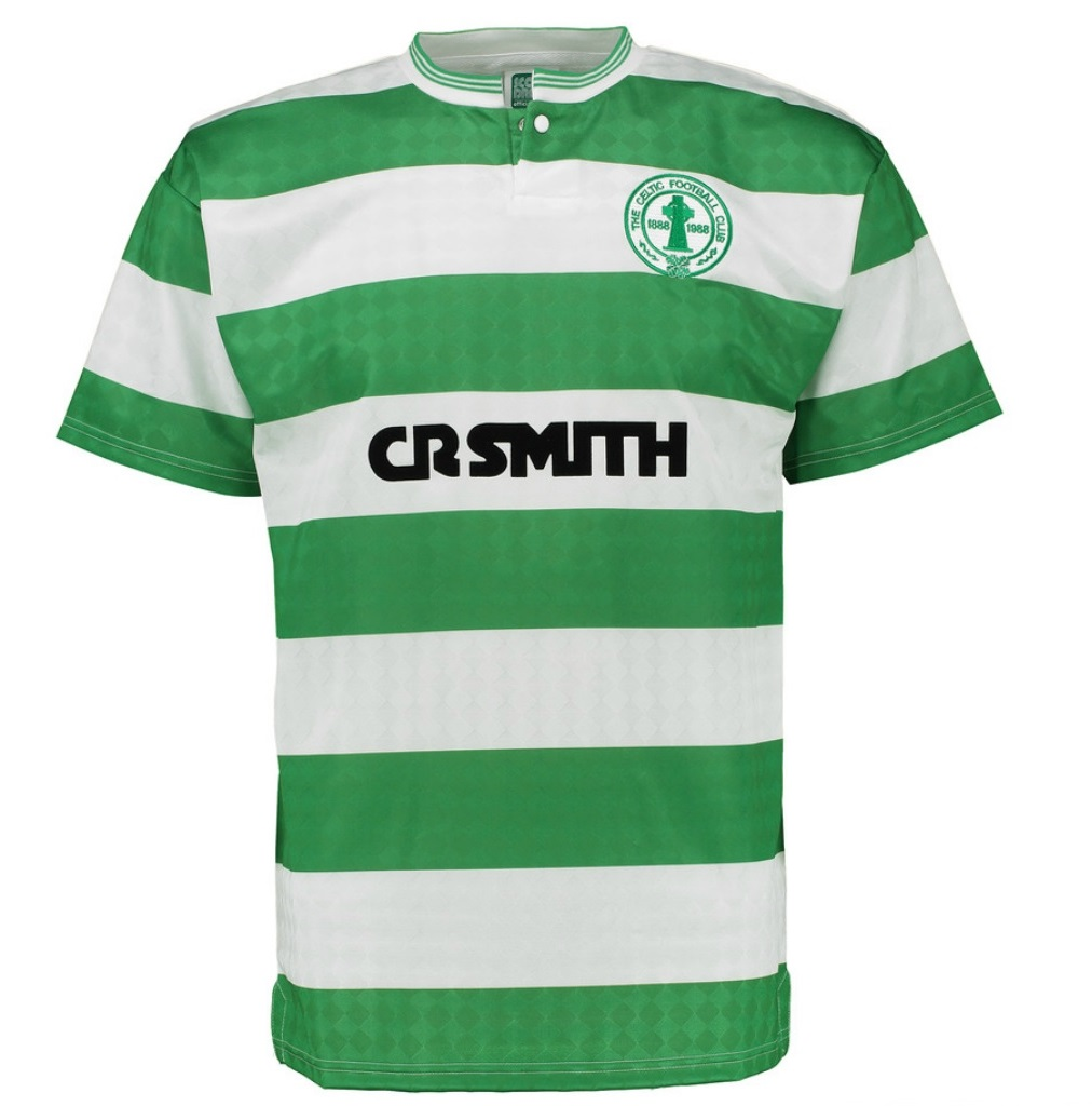 Celtic-FC-officiel-T-shirt-homme-retro-centenaire-du-club-1988-domicile