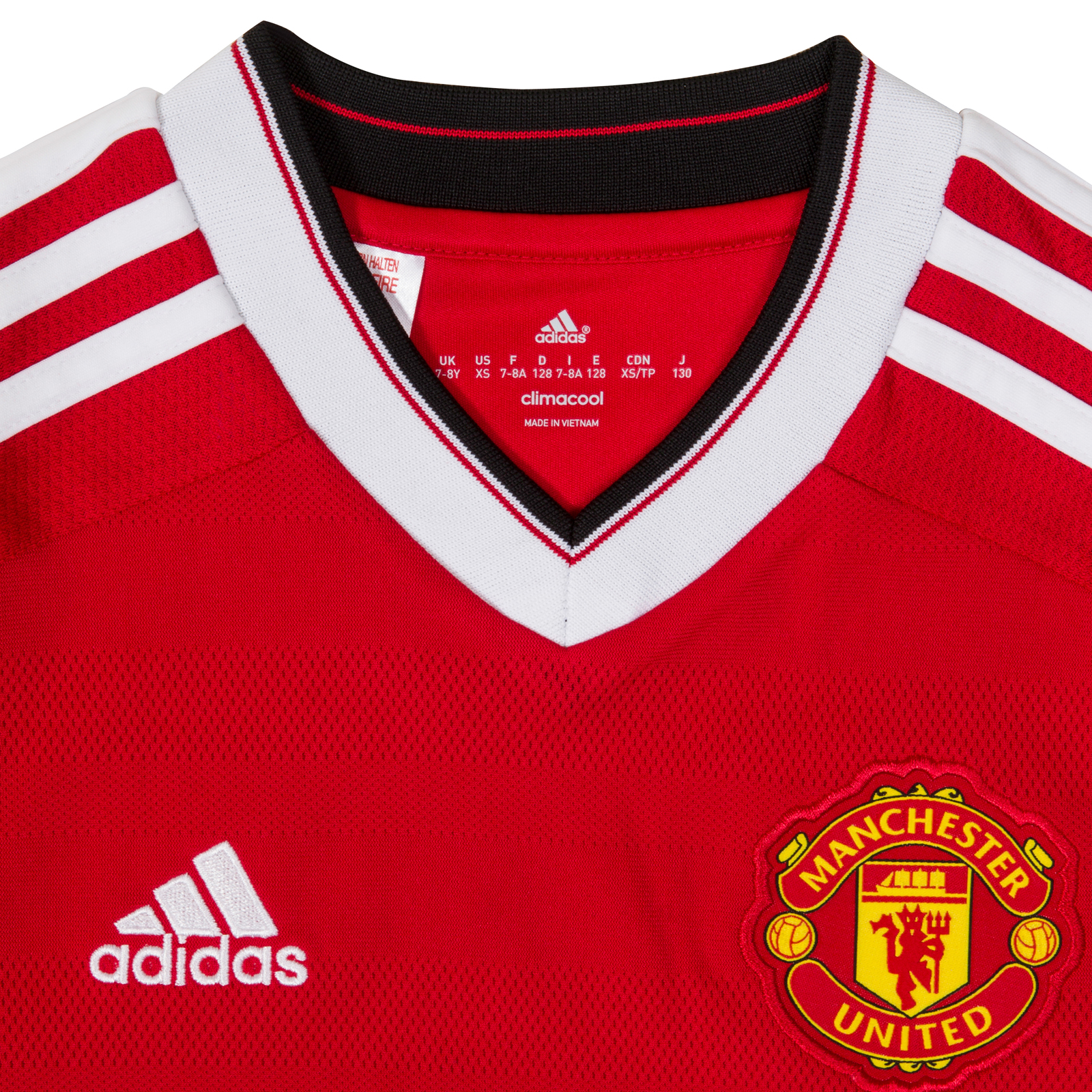Manchester-United-FC-Official-Gift-Boys-Adidas-Home-Kit-Long-Sleeve-Shirt thumbnail 6