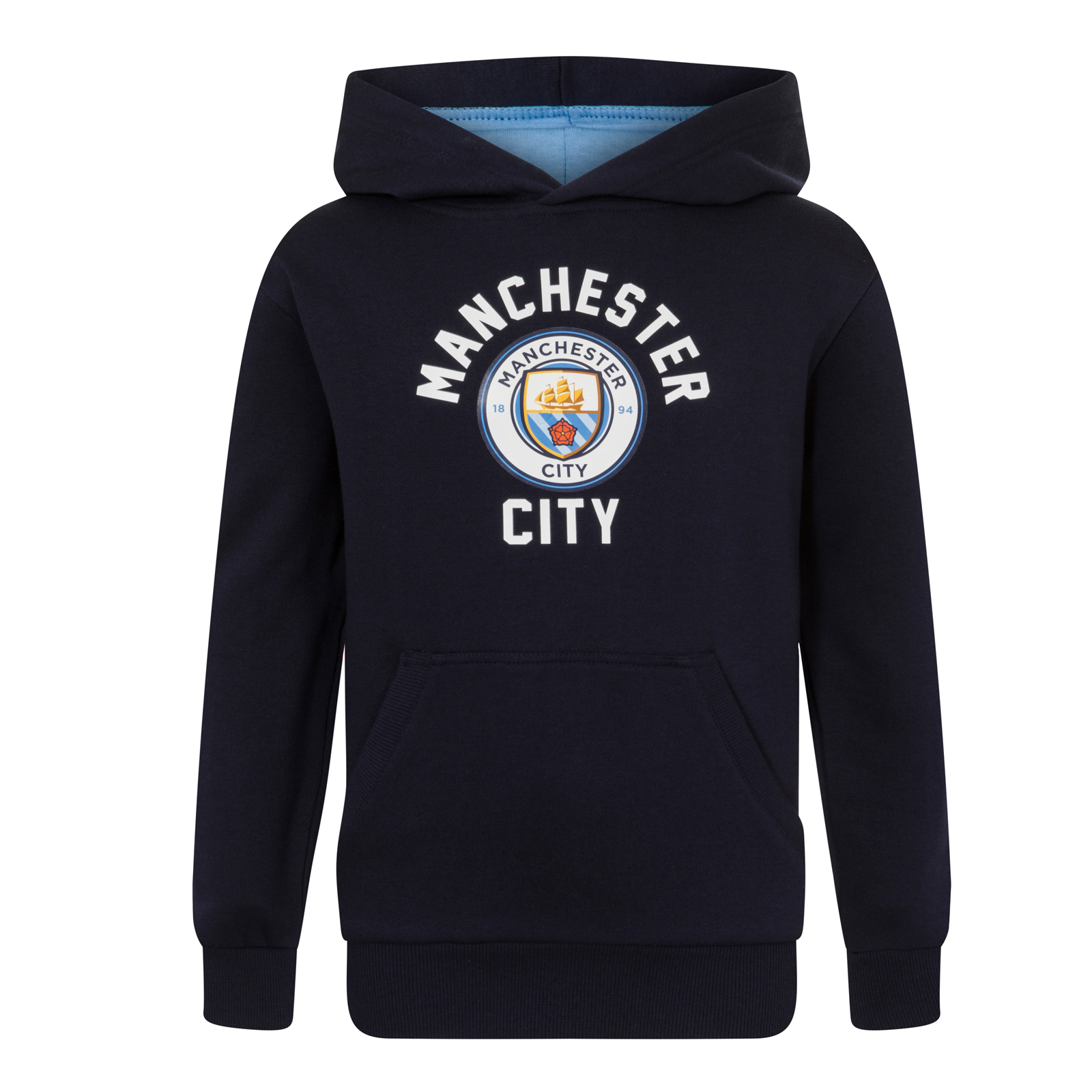 Manchester City FC Official Football Gift Boys Fleece Graphic Hoody
