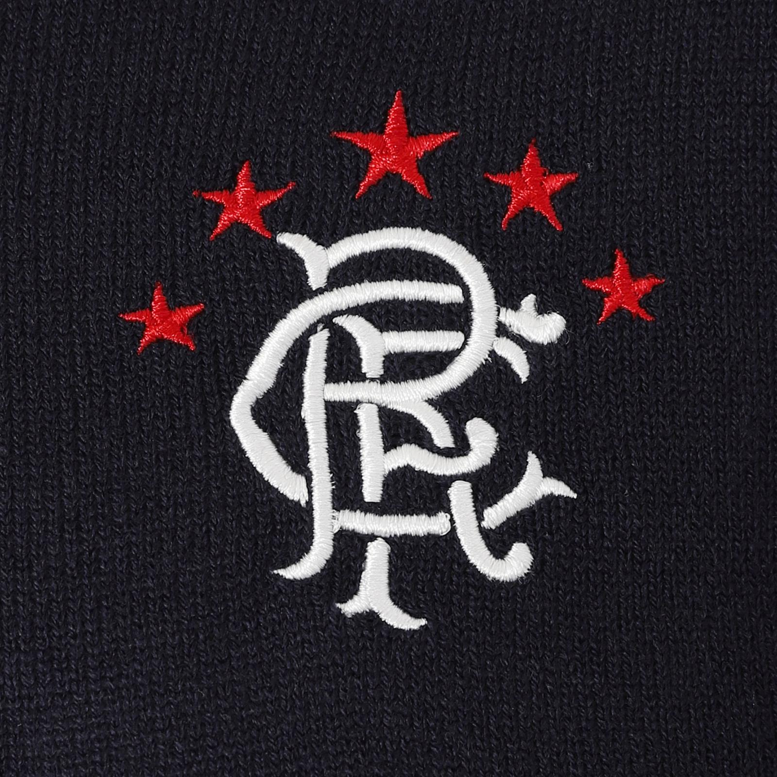 Rangers Football Club Official Soccer Gift Mens Crest Knitted Jumper