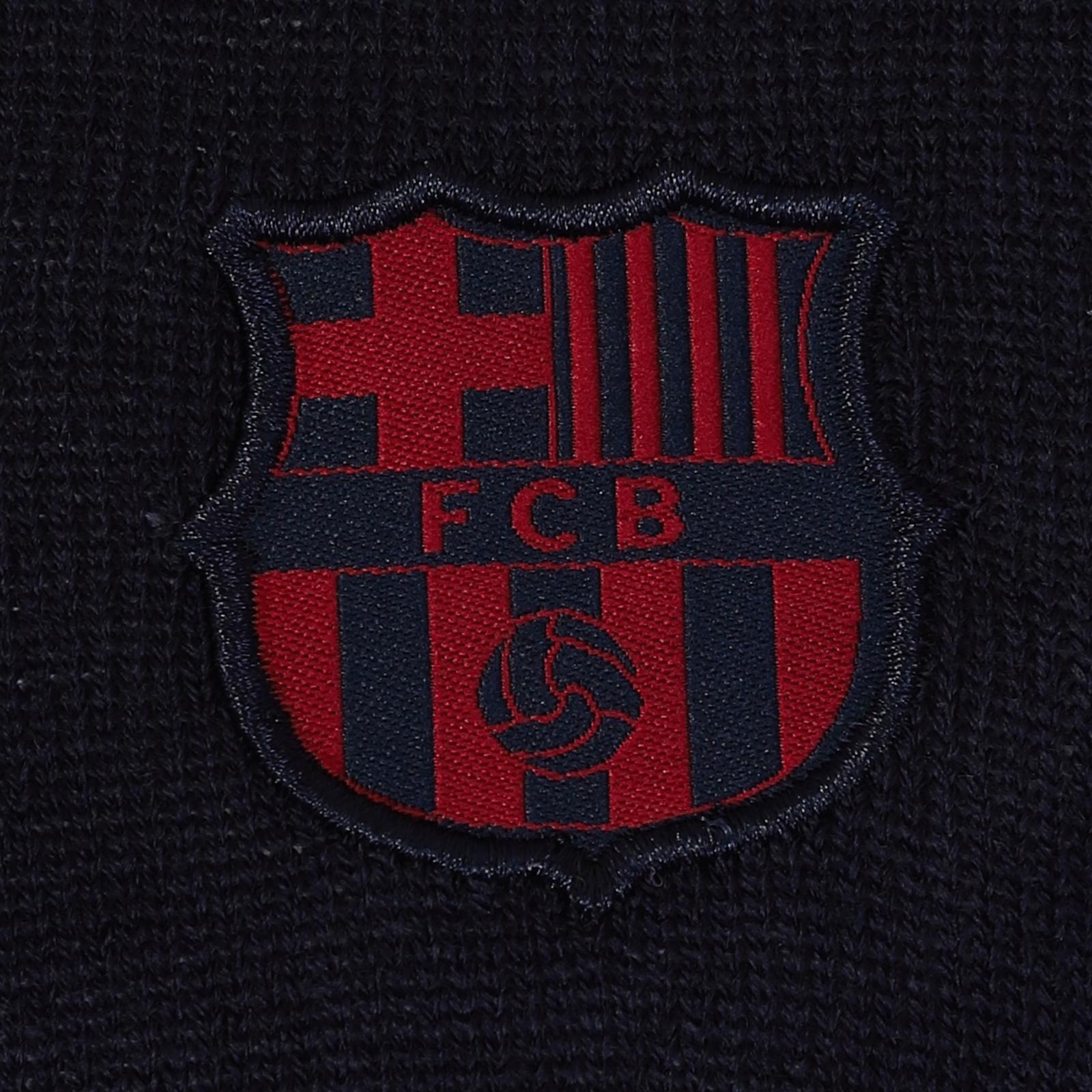 FC Barcelone officiel homme en tricot//avec blason Pull /à col en V ou rond th/ème football