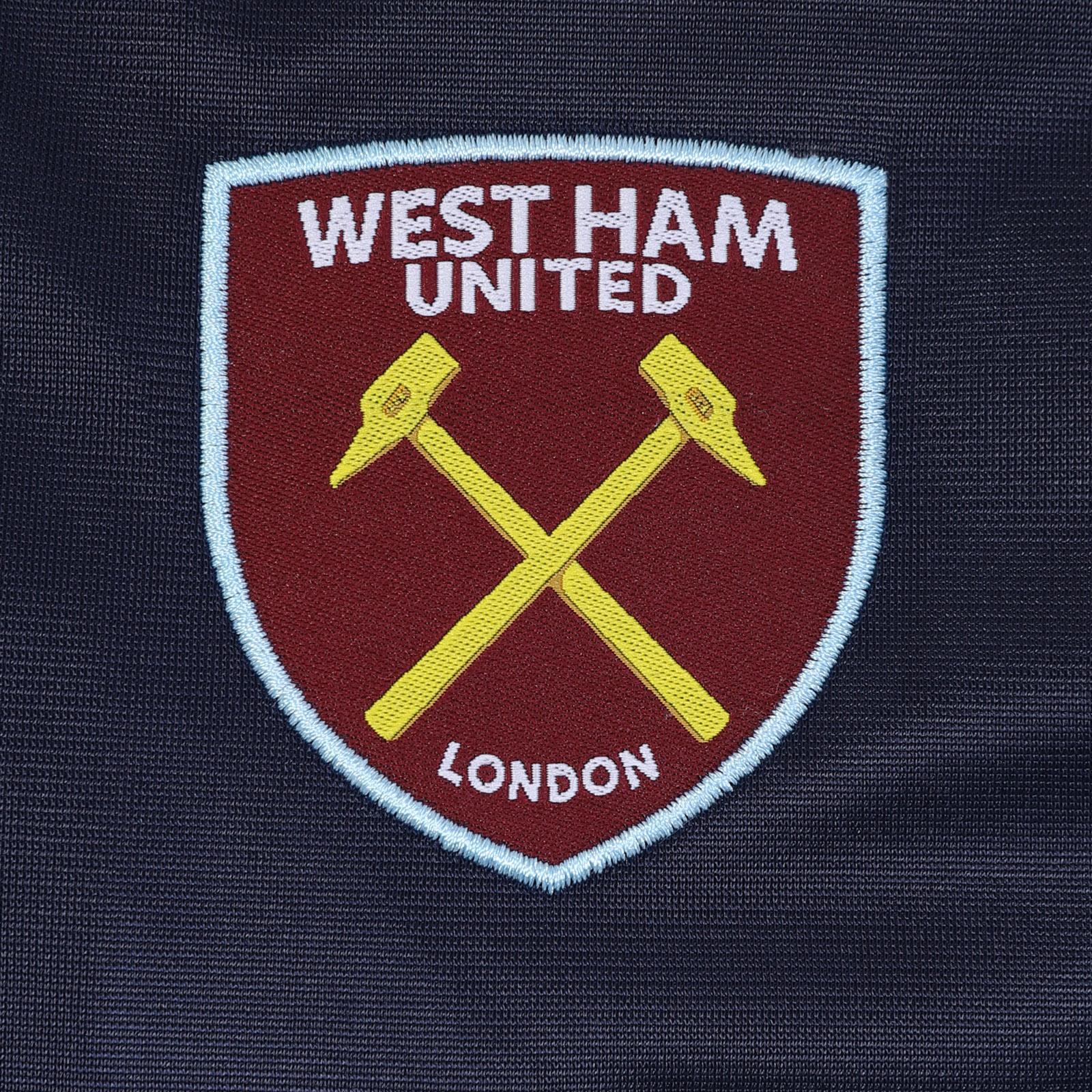 West Ham United Fc Official Soccer Gift Boys Kids Retro Track Top Jacket