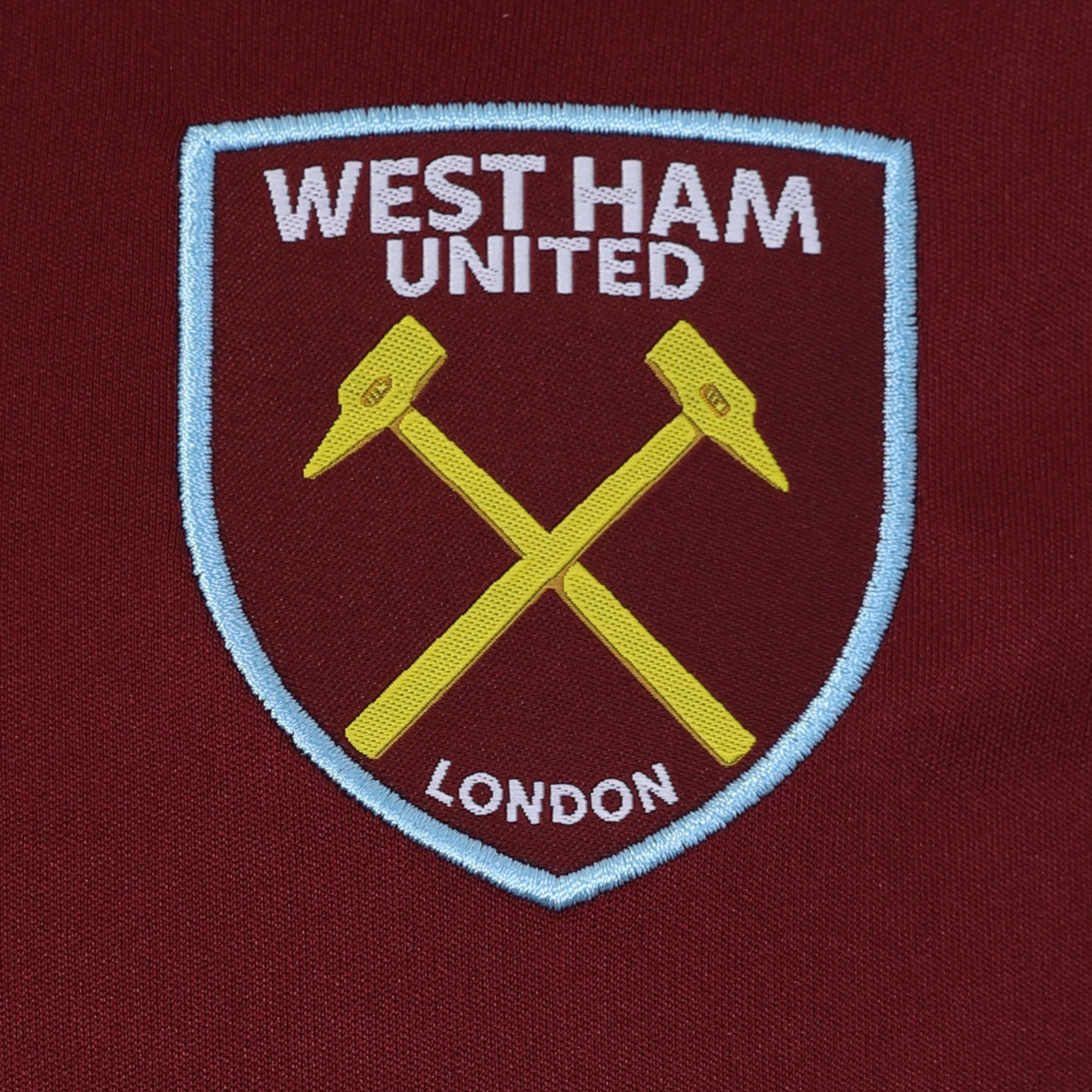 West-Ham-United-FC-Official-Football-Gift-Mens-Poly-Training-Kit-T-Shirt miniatuur 5