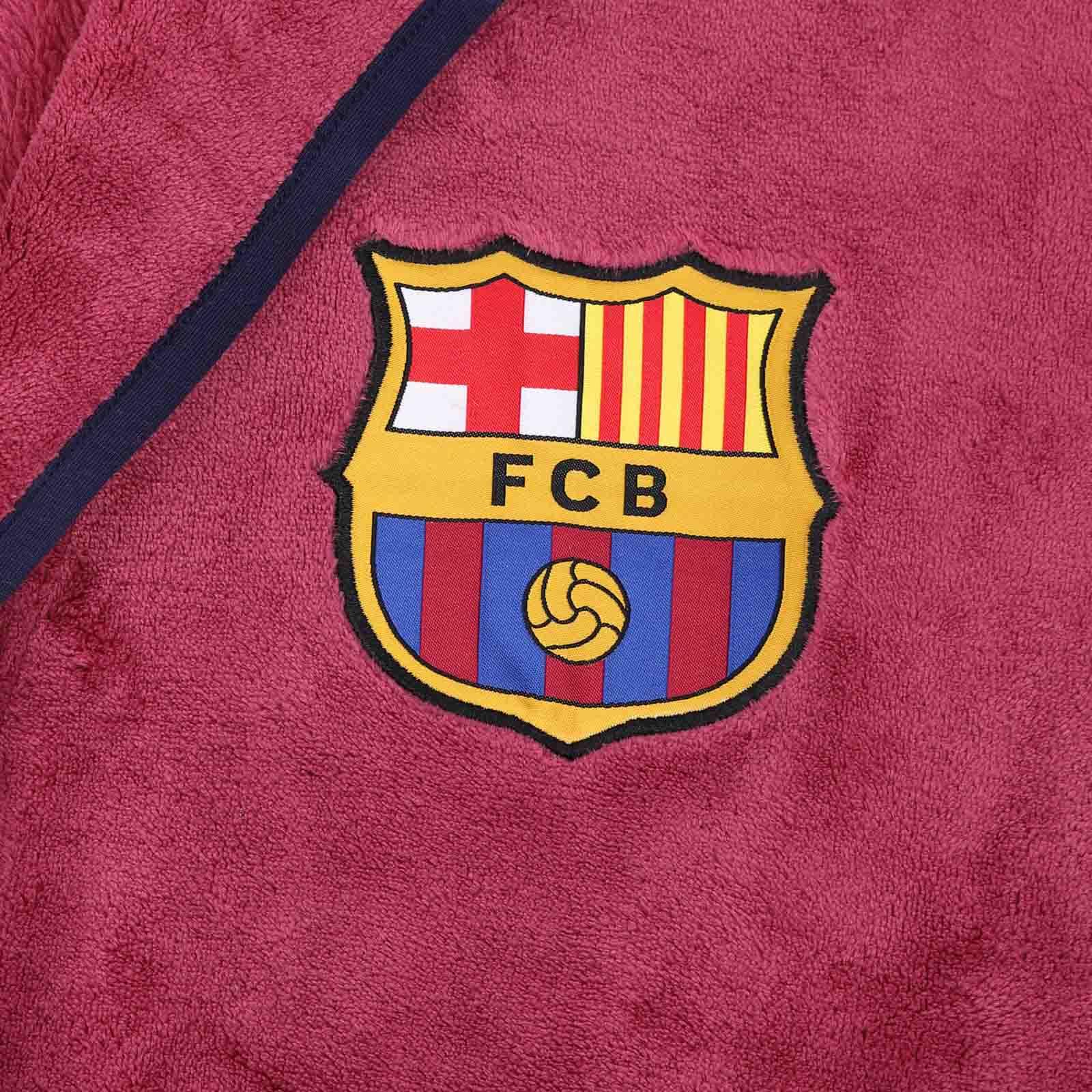 FC-Barcelona-Official-Football-Gift-Boys-Hooded-Fleece-Dressing-Gown-Robe miniatuur 11