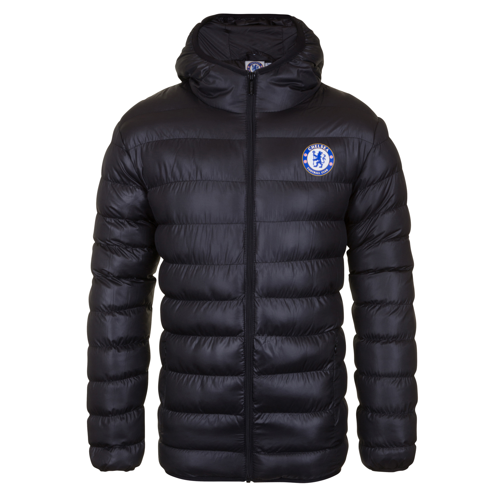 Chelsea FC Official Football Gift Mens Quilted Hooded