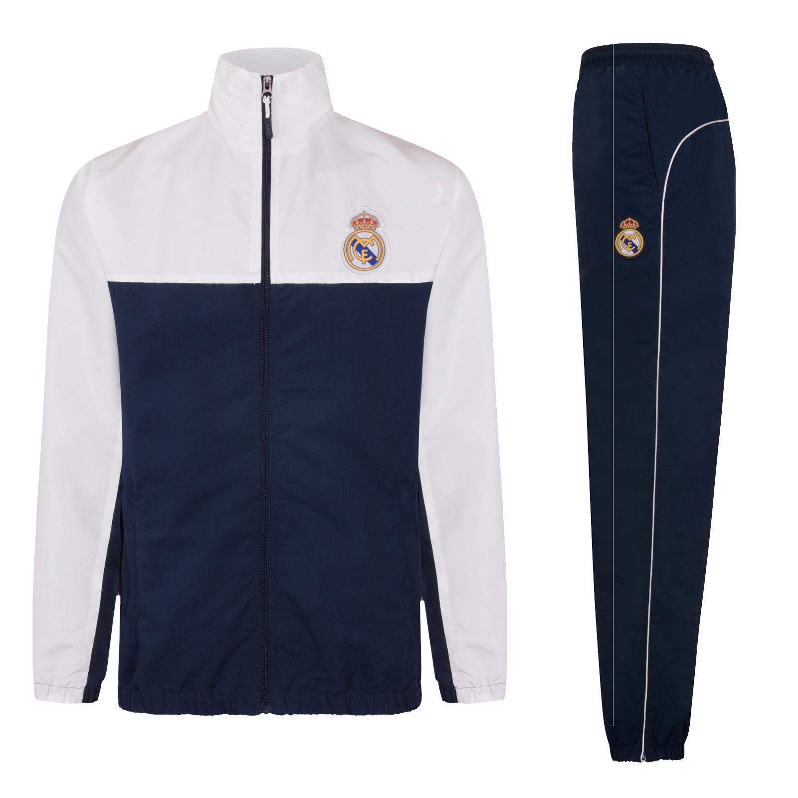 Details zu Real Madrid Herren Trainingsanzug Jacke & Hose Offizielles Merchandise