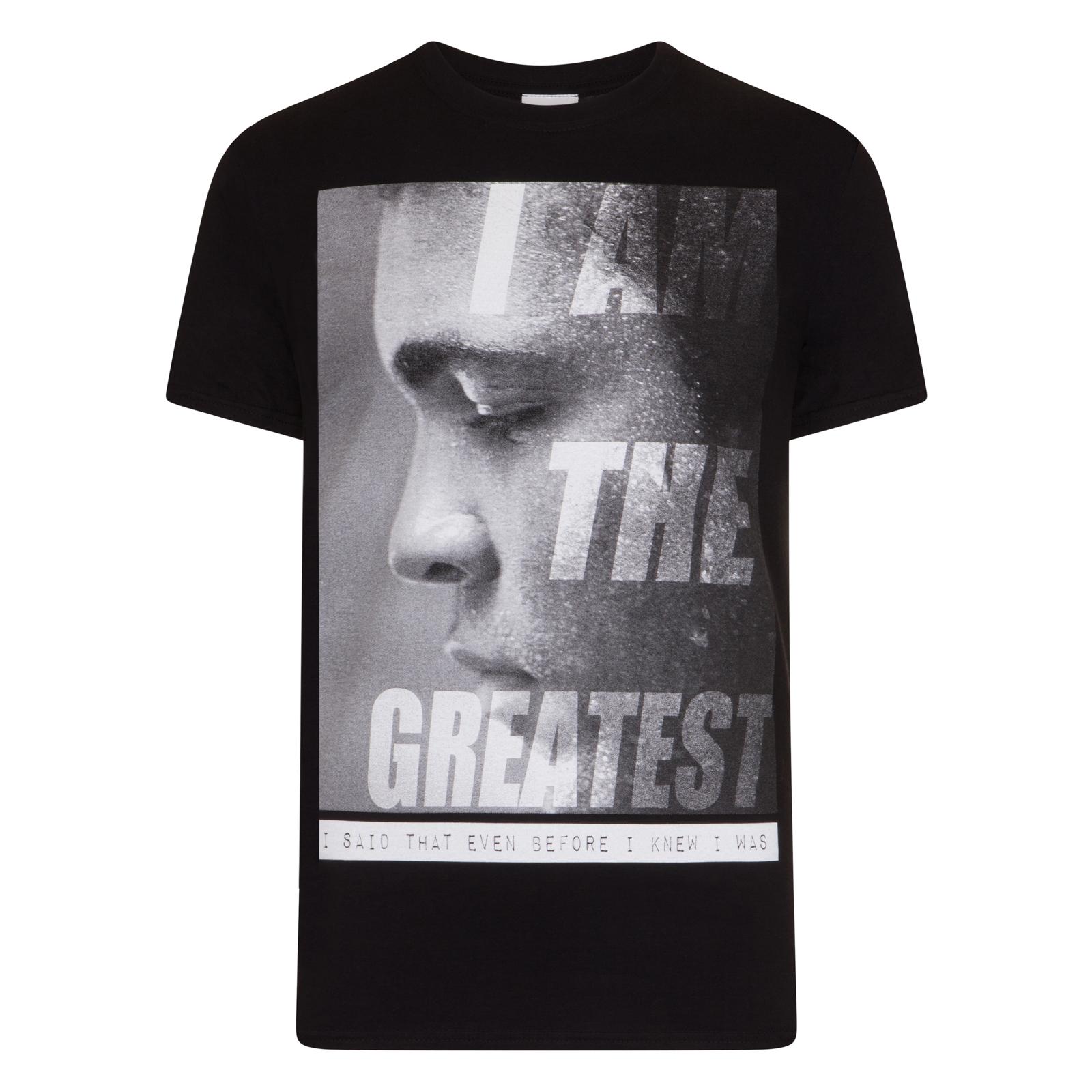Muhammad Ali t-shirt legendary boxer black tee boxing champ fighter Muhammed