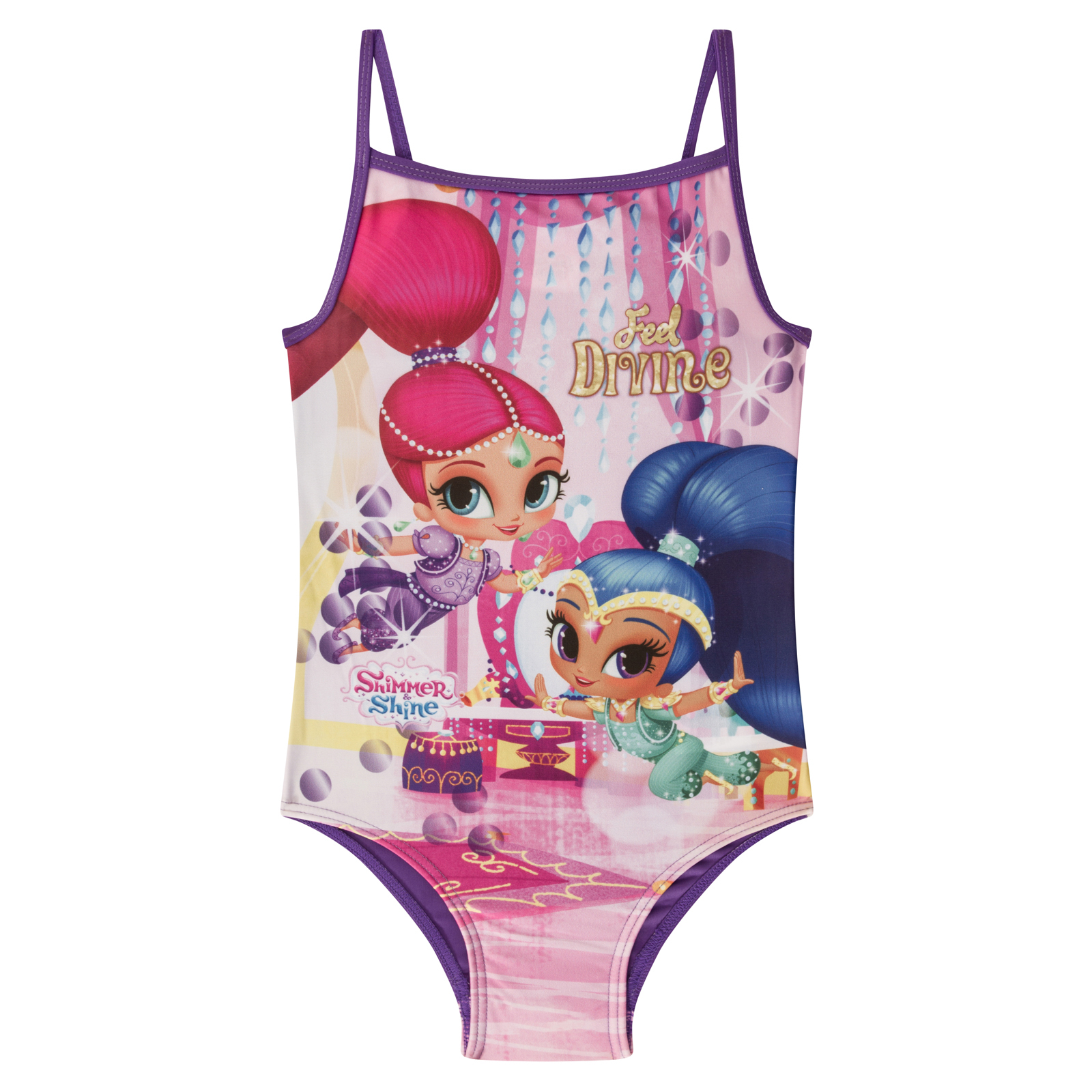 8cee3703cd Details about Shimmer And Shine Official Gift Girls Kids Swim Suit Costume