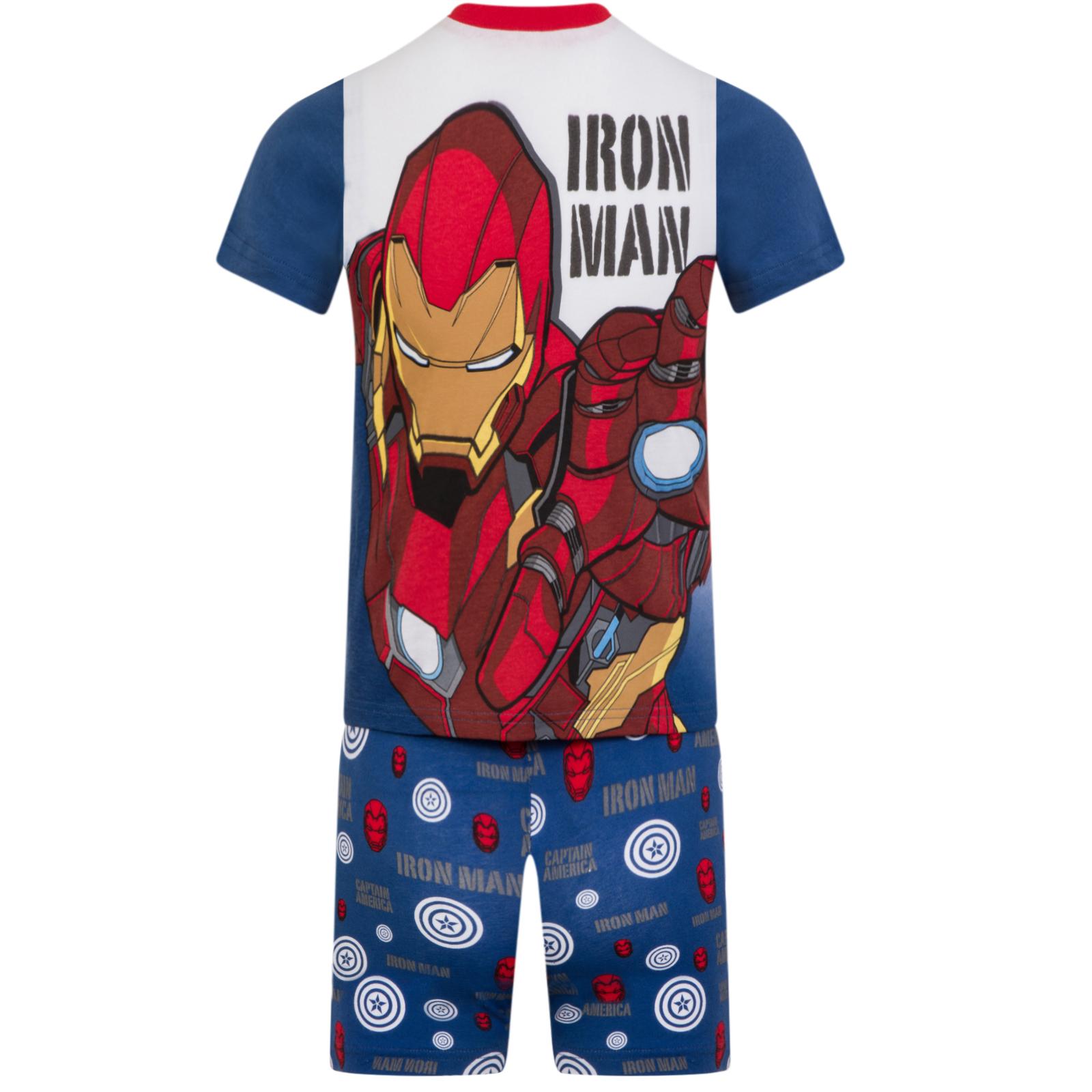64e855ce0c Marvel Avengers - Jungen Schlafanzug kurz - Ironman, Hulk, Thor ...