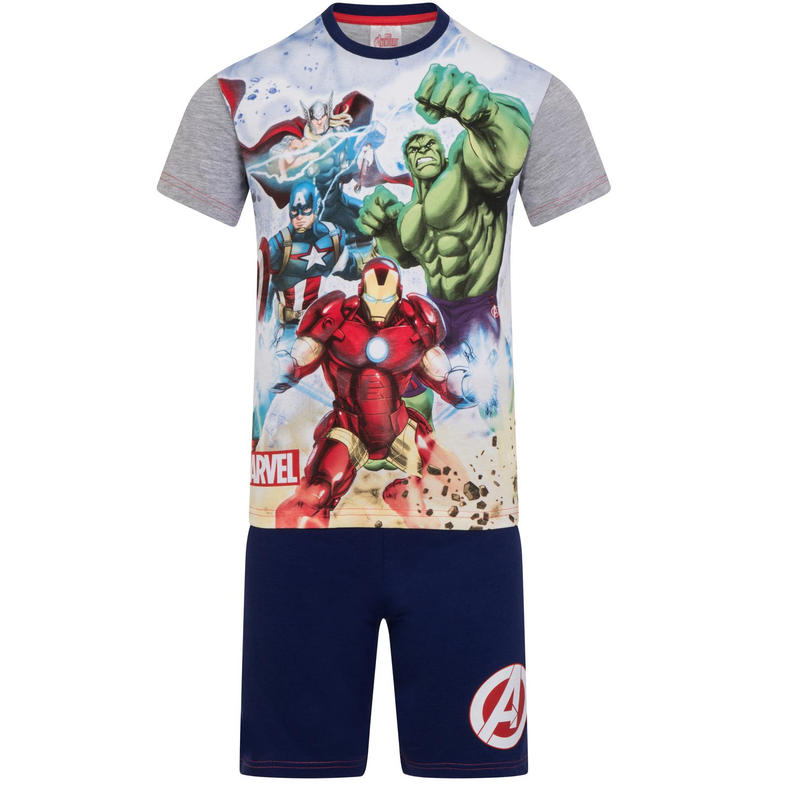 Marvel Avengers Pyjamas with Captain America Iron Man Thor Hulk for Boys