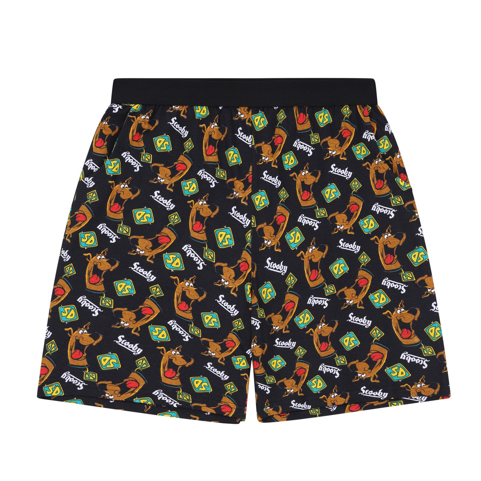 Scooby-Doo-Shaggy-Mystery-Machine-Official-Mens-Loungewear-Retro-Short-Pyjamas thumbnail 4